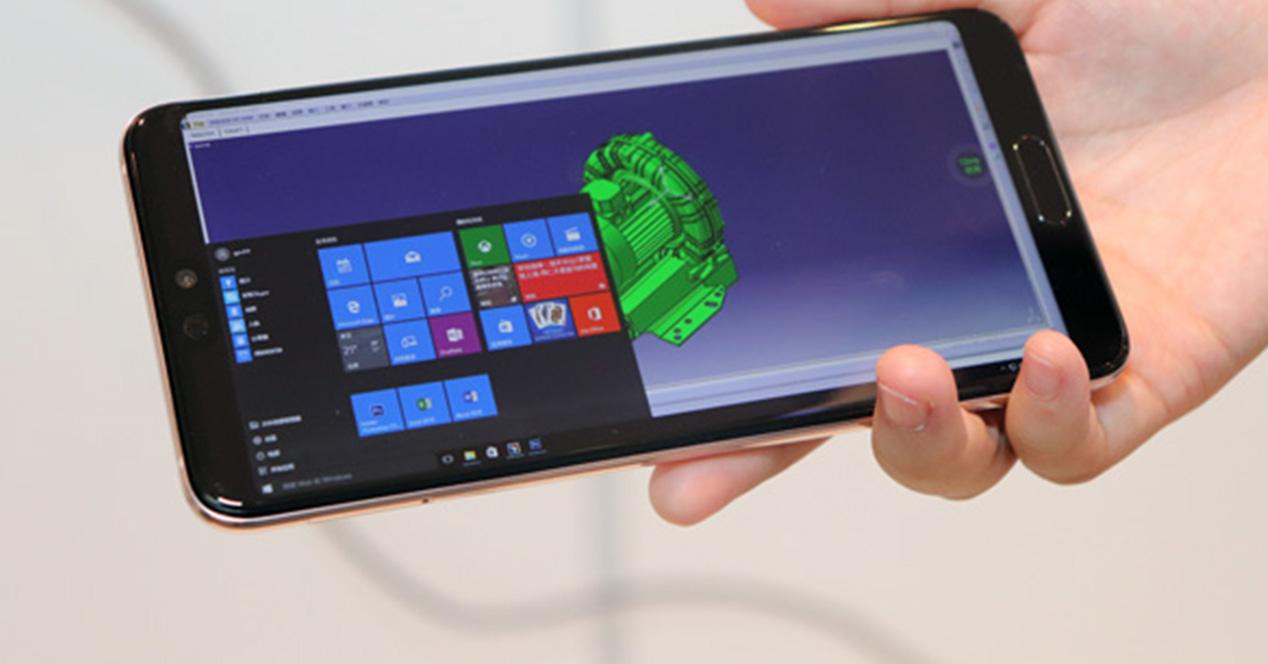 Windows 10 ejecutándose en smartphones Huawei