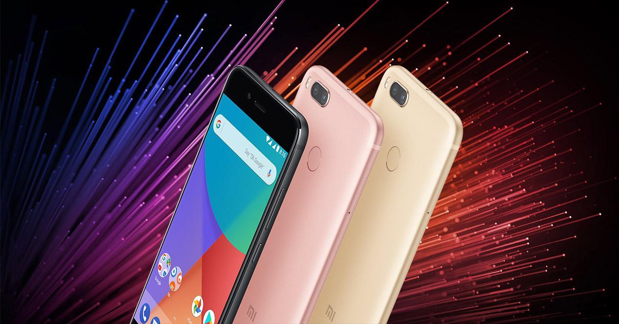 Xiaomi mi A1 en distintos colores