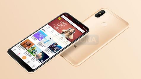 Xiaomi Redmi 6 Pro de color dorado