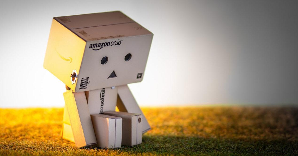 caja amazon triste