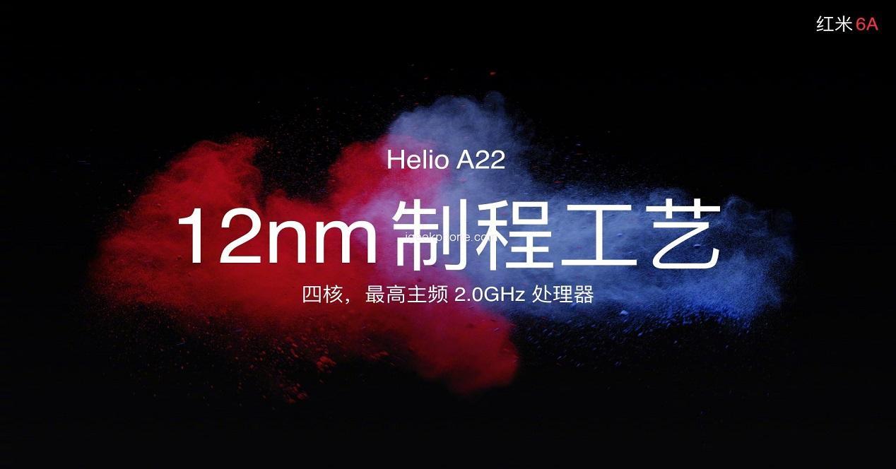 moviles baratos de Xiaomi-Helio A22