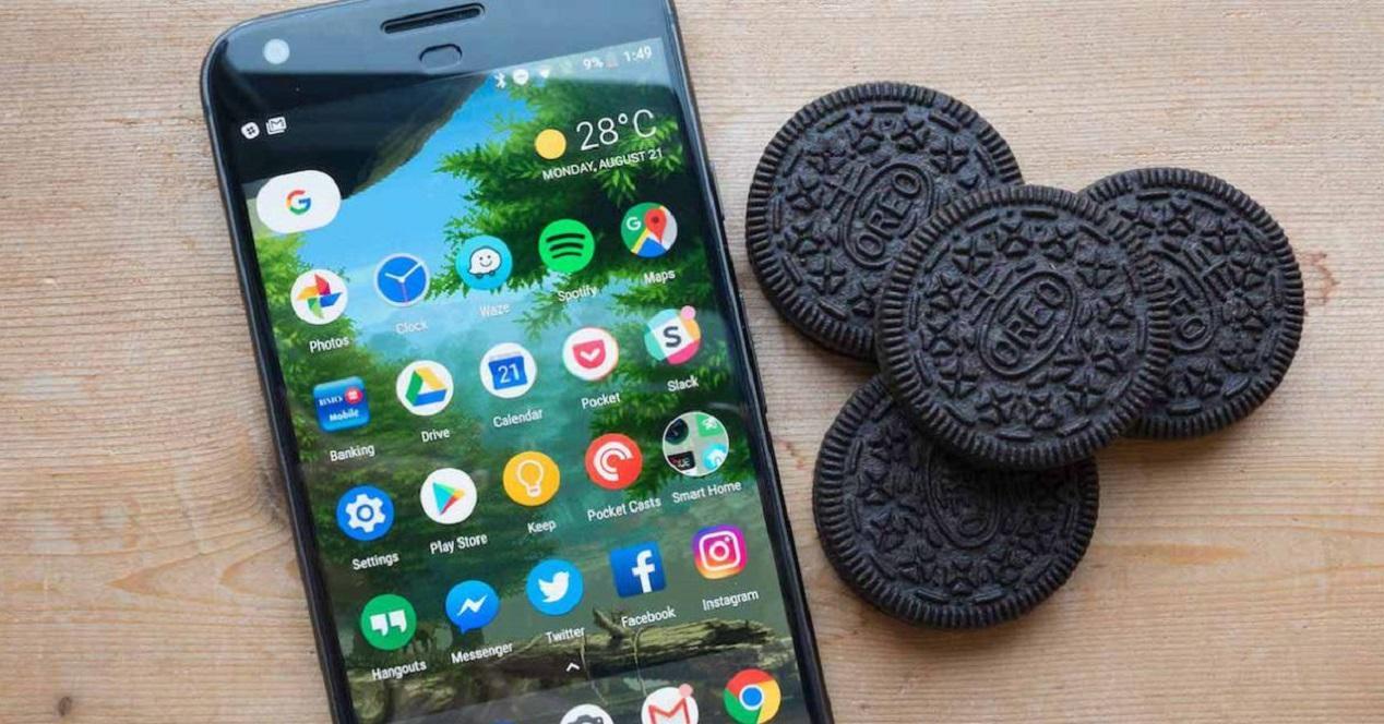 smartphone con Oreo