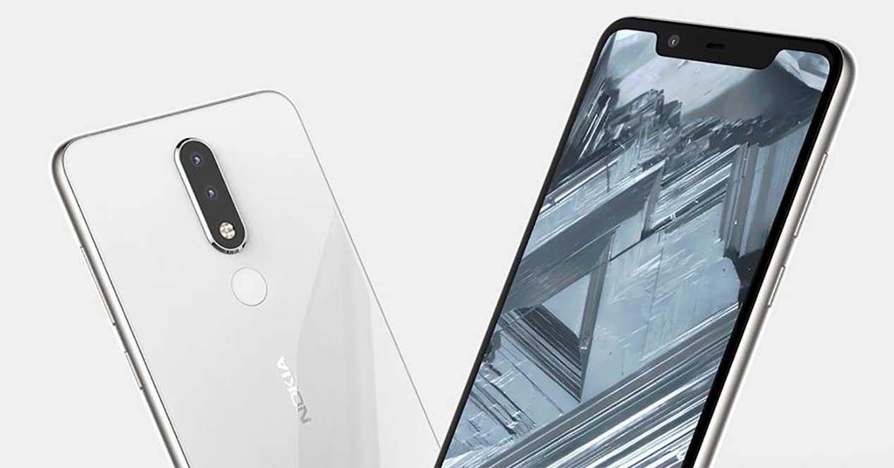 diseño del Nokia 5.1 Plus