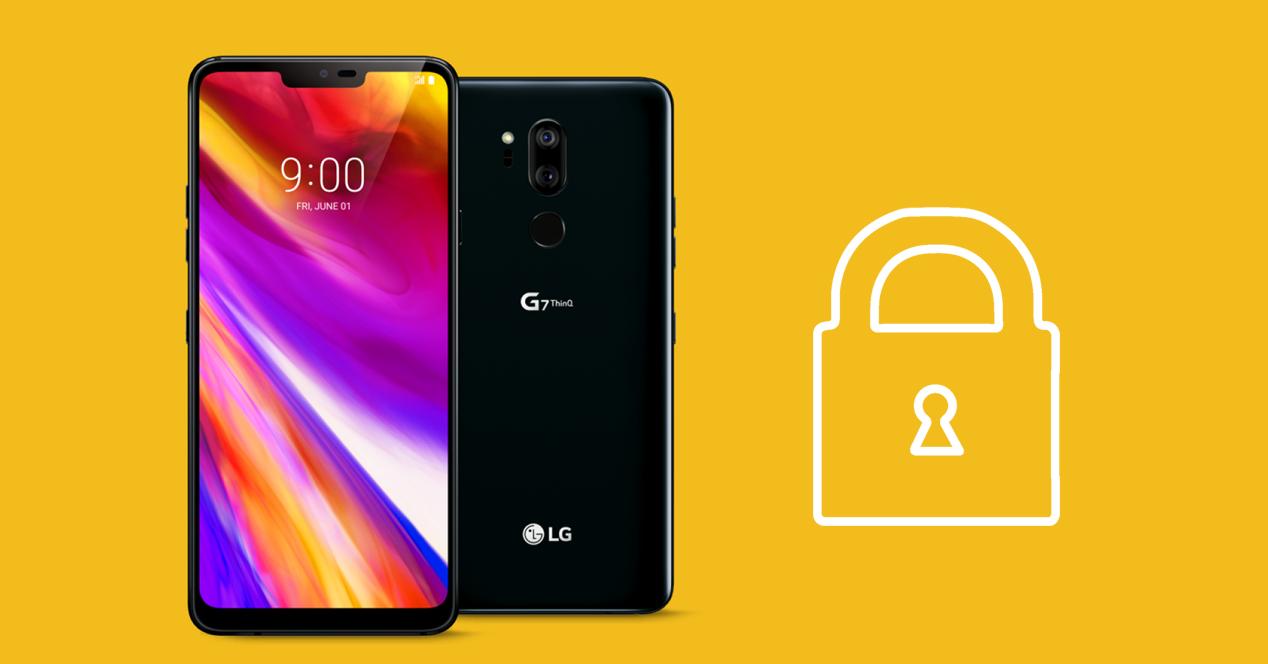 seguridad lg g7