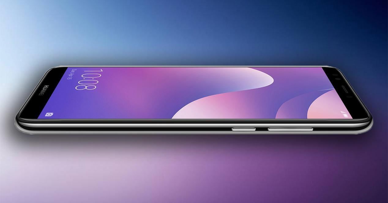 Pantalla y diseño del Huawei Y7 2018