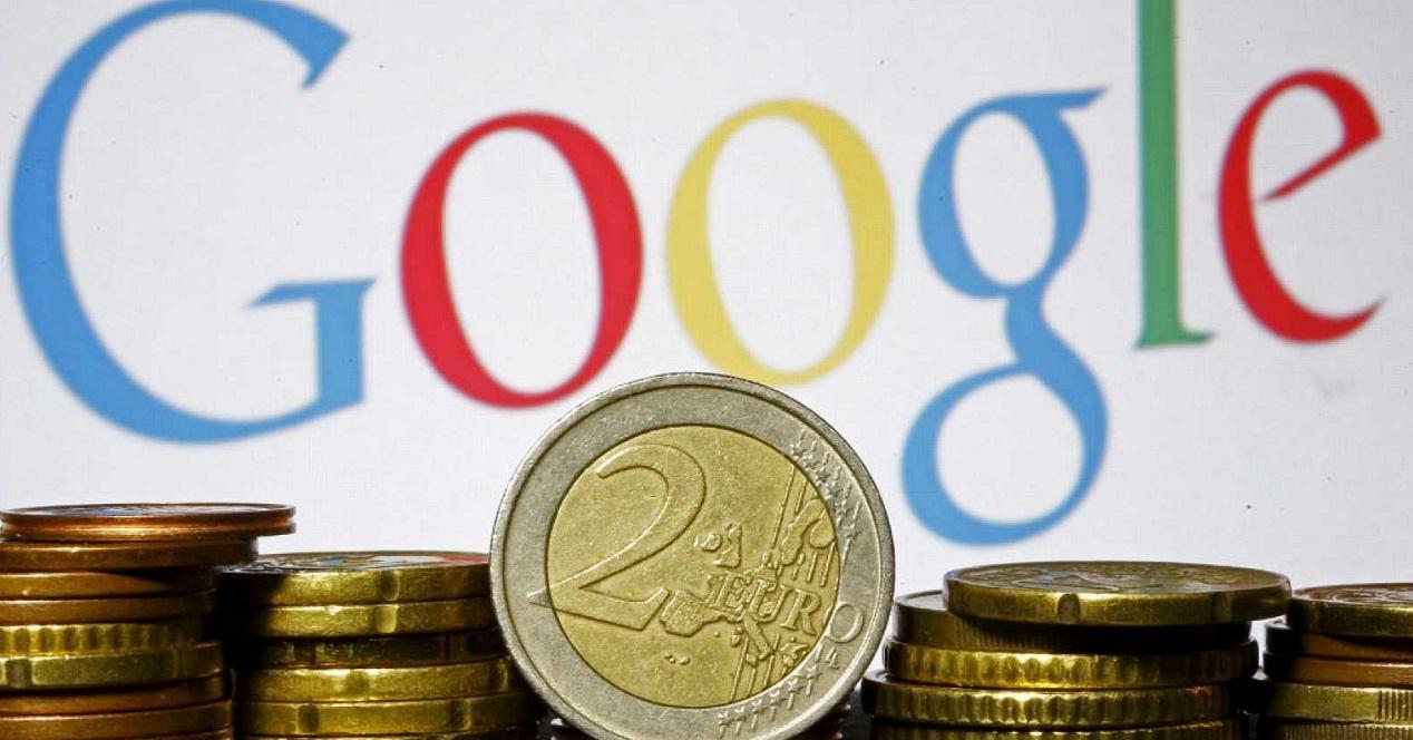 Logo de Google con monedas