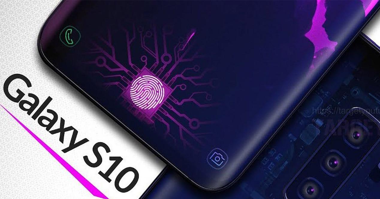 Sensor de huellas en la pantalla del Samsung Galaxy S10