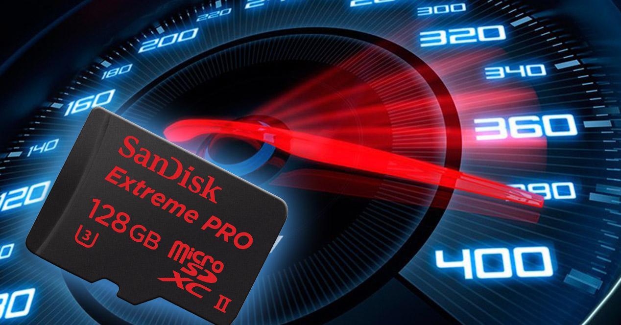 Test de velocidad de una tarjeta micro SD