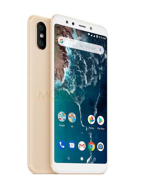Xiaomi Mi A2 dorado detalles de cámara