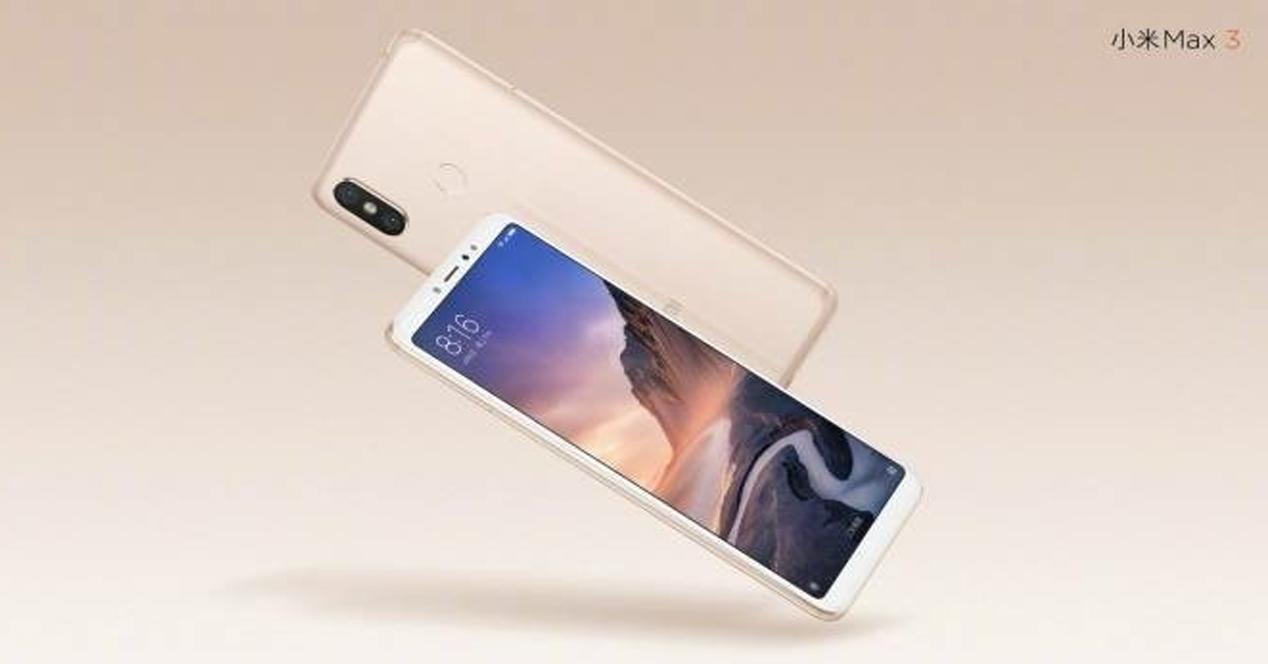 Xiaomi Mi MAX 3-render oficial