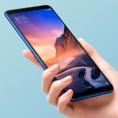 Xiaomi Mi Max 3 negro congio con una mano