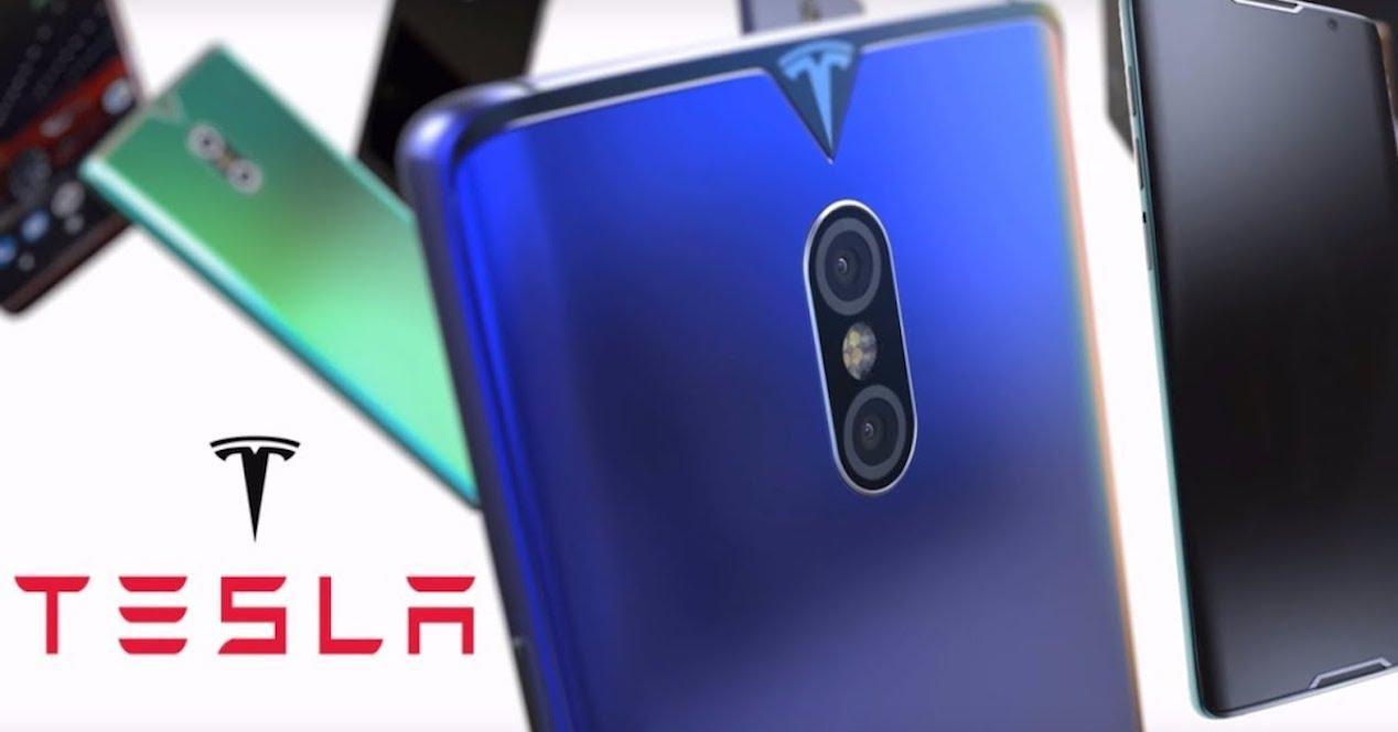 smartphone tesla concepto