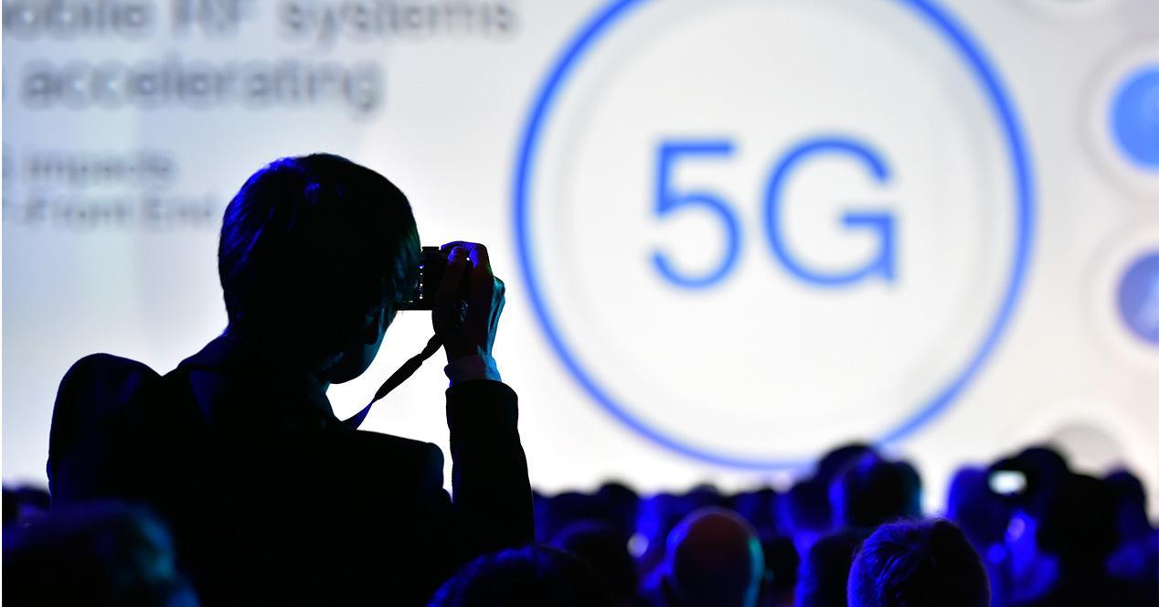Icono representativo de una red de datos 5G