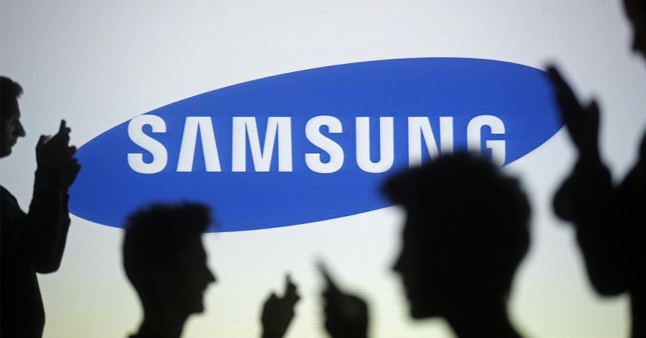 Logitipo Samsung iluminado
