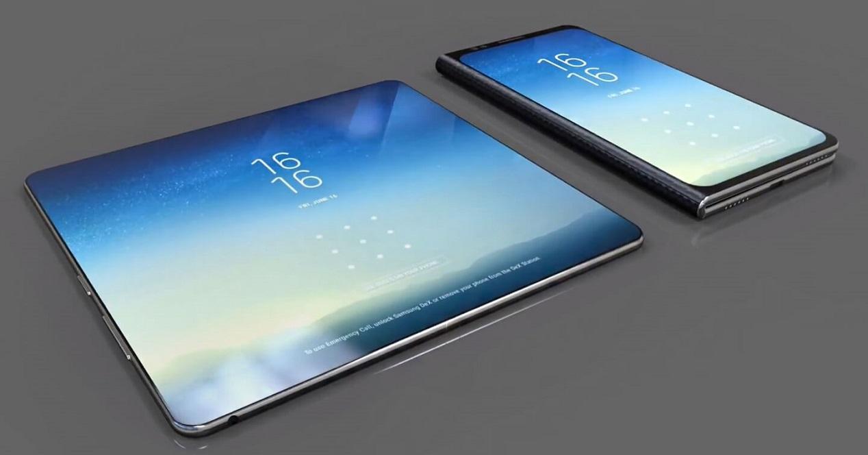 movil plegable de Samsung-concept-render
