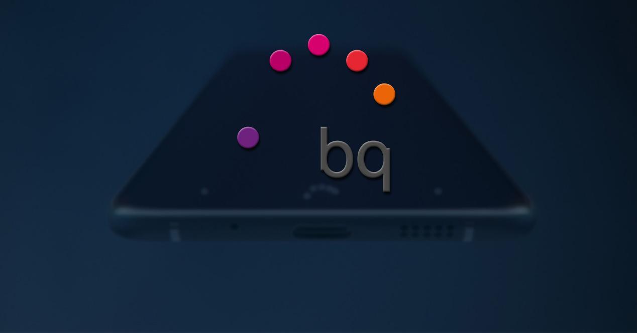 Smartphone de BQ con el logotipo de la compañía