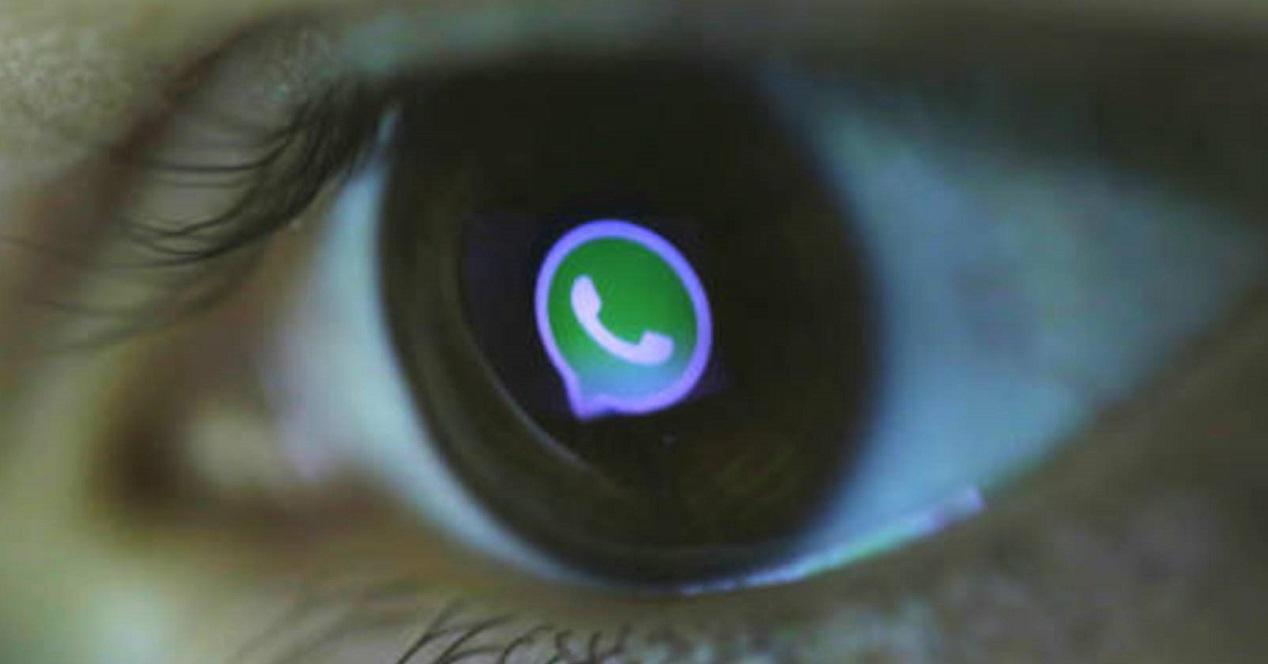 Persona mirando el logo de WhatsApp