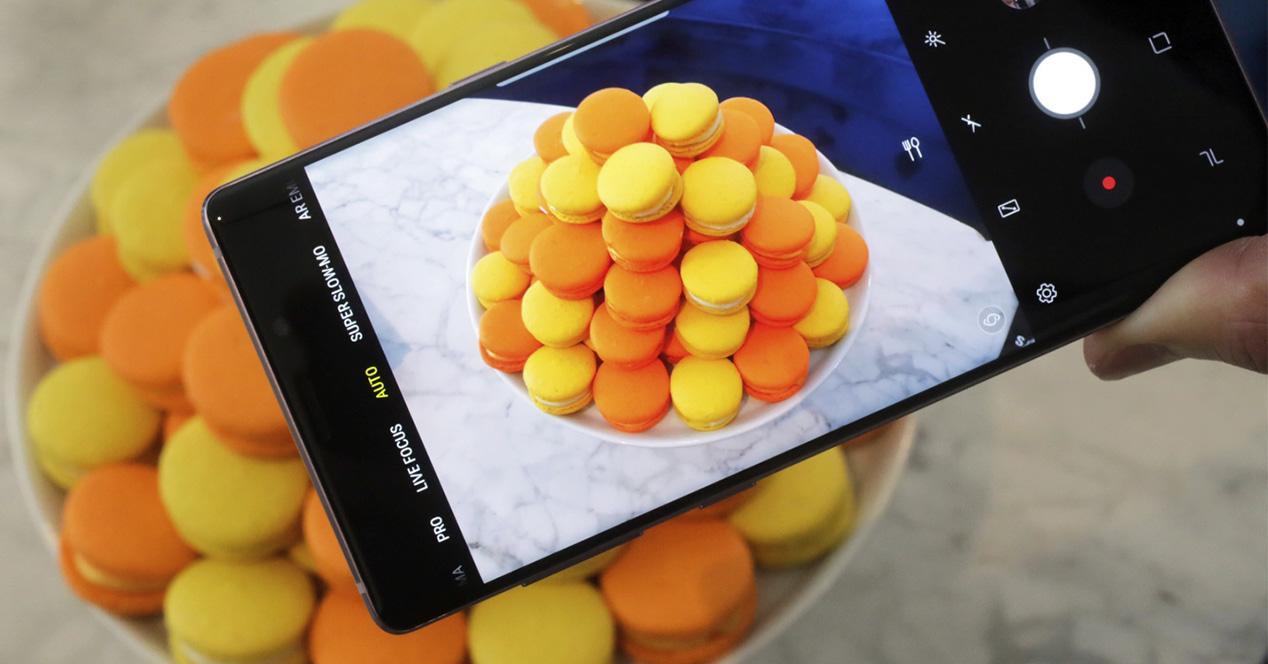 App de cámara del Galaxy Note 9