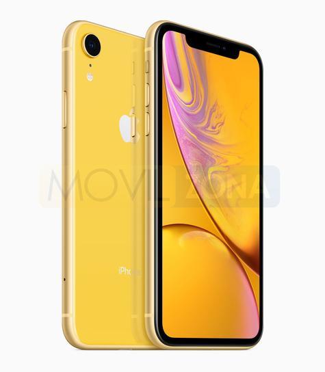 Apple iPhone XR negro y amarillo