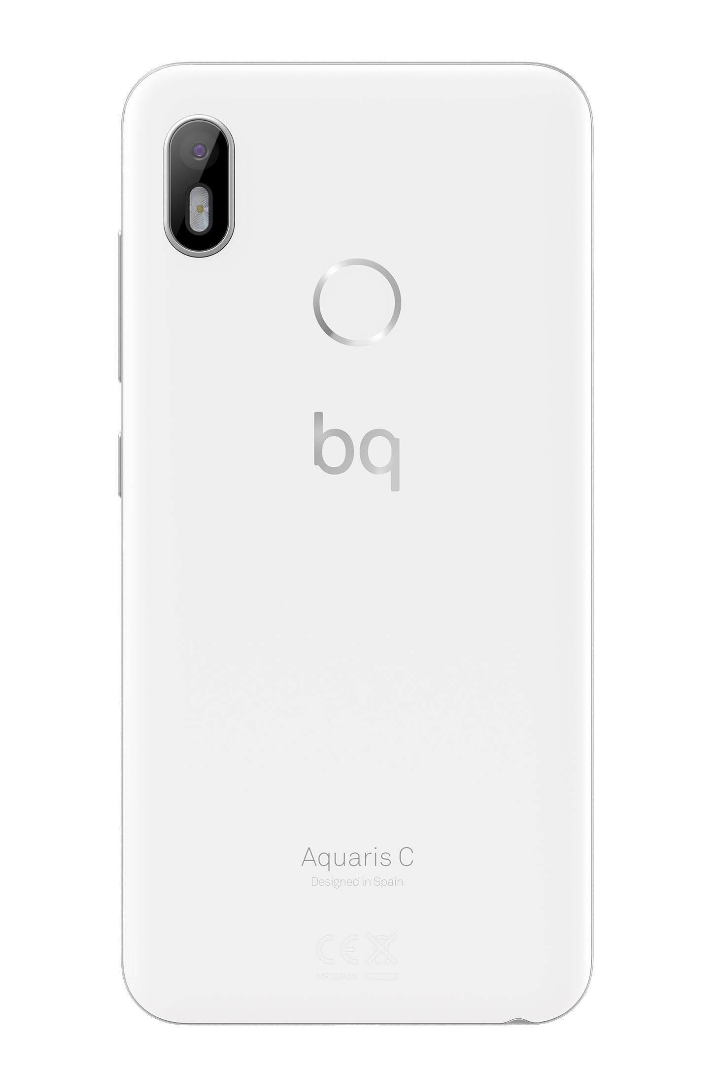BQ Aquaris C blanco huella dactilar