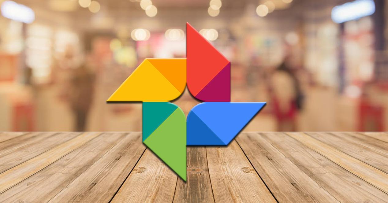 Google Fotos fondo borroso