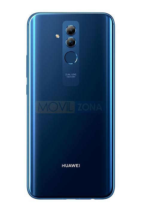 Huawei Mate 20 Lite azul con doble cámara trasera