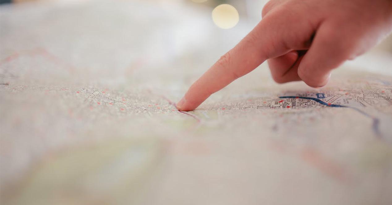 Punto sobre un mapa