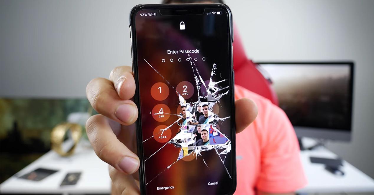 Pantalla de blqqueo de un iPhone