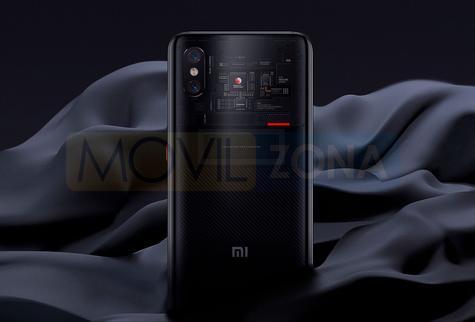 Xiaomi Mi 8 Pro trasera transparente