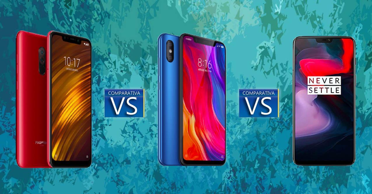 PocoF1 vs Xiaomi mi 8 vs oneplus 6