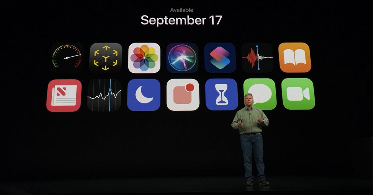 Iconos de iOS 12