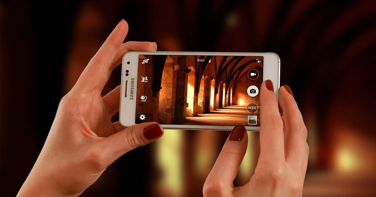 Foto con telefono Samsung