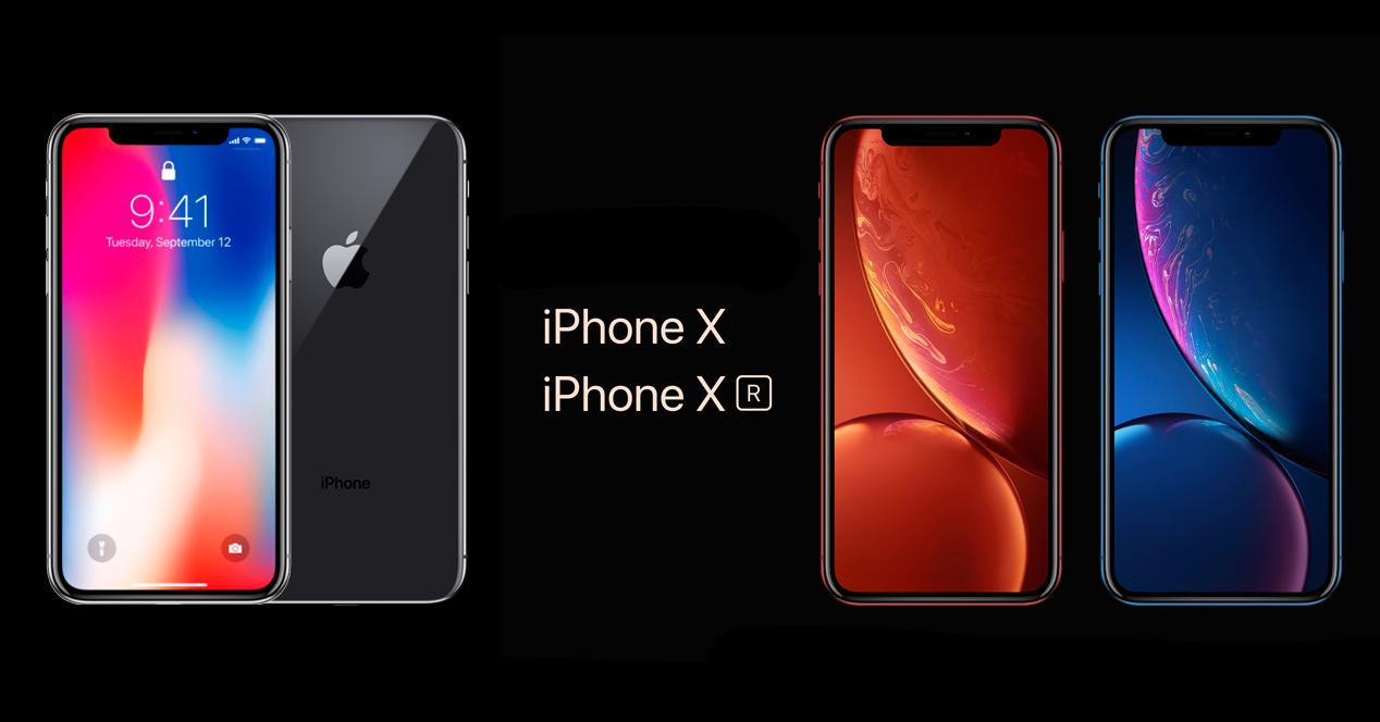 iPhone X y iPhone Xr