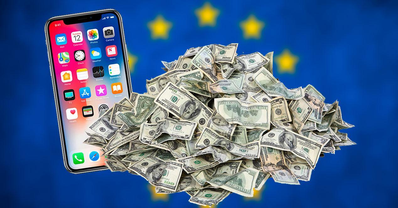 iphone xs dinero