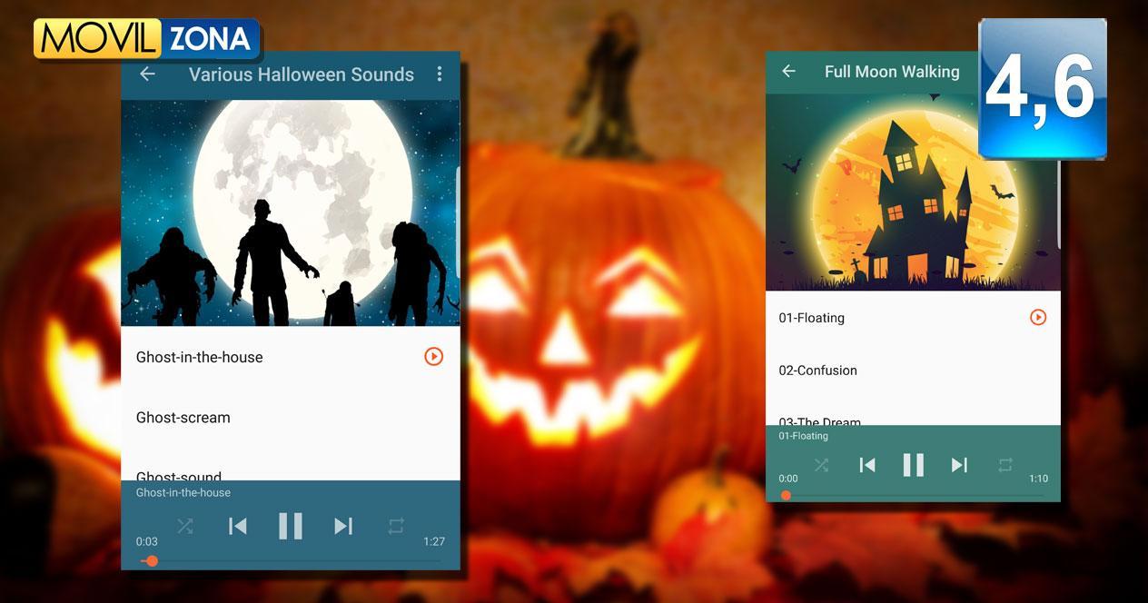Aplicación Halloween Soundboard