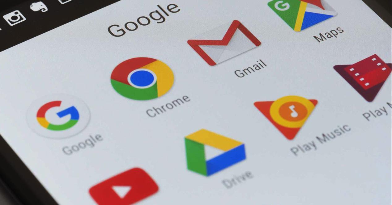 Iconons de las principales apps de Google