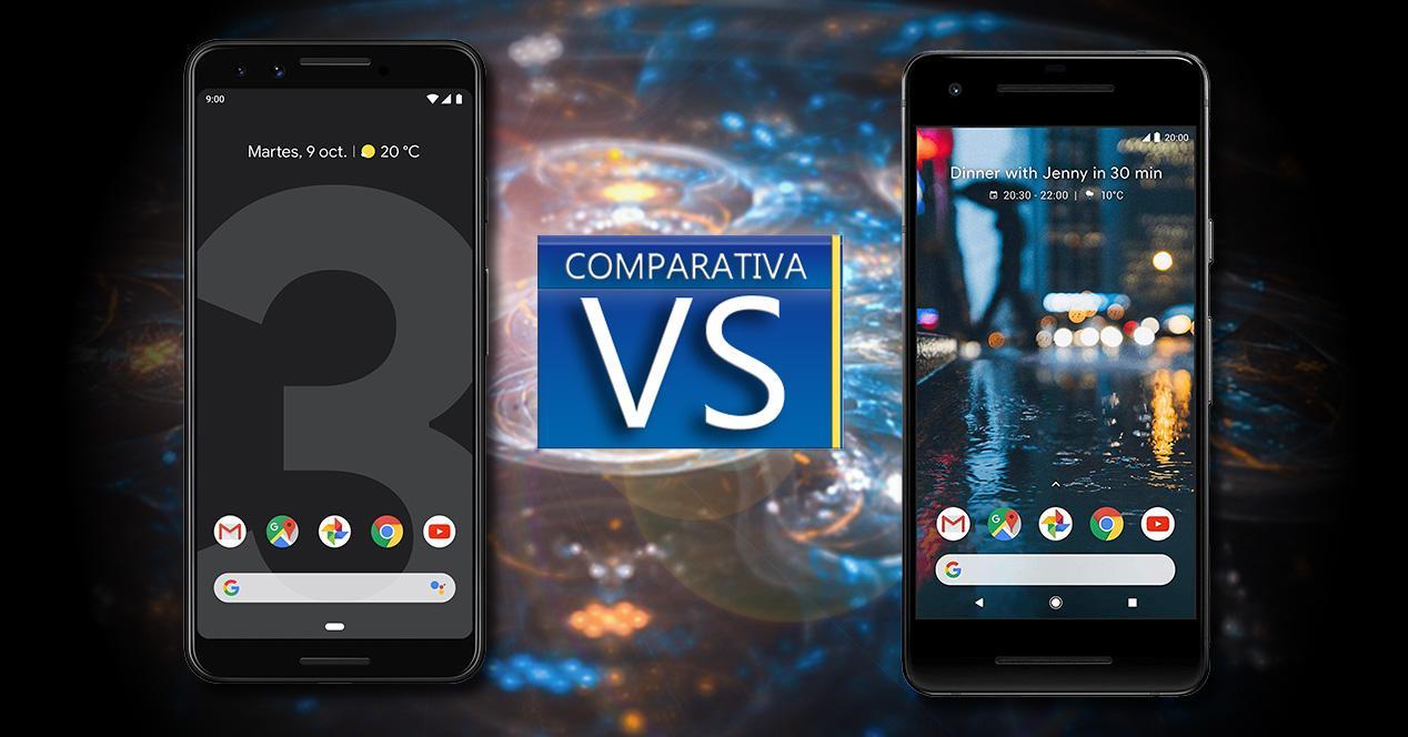 Comparativa Pixel 3 VS Pixel 2
