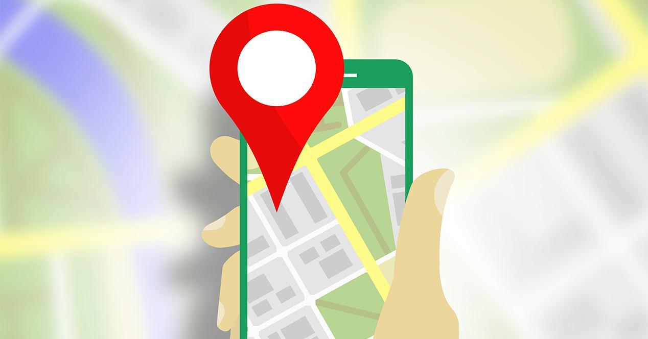 Opción de compartir ubicación desde la app de Google Maps
