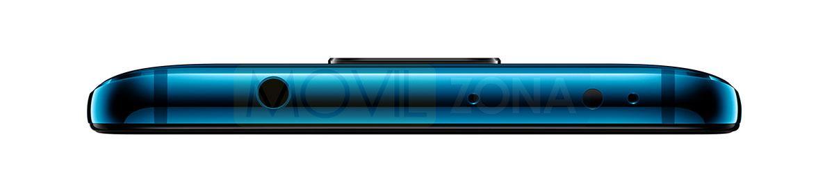 Huawei Mate 20 azul conexión de auriculares