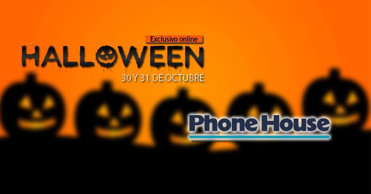 Oferta Halloween Phone House fondo naranja
