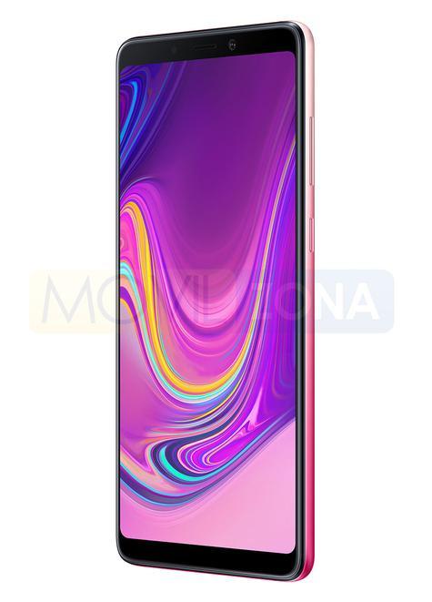 Samsung Galaxy A9 de color rosa