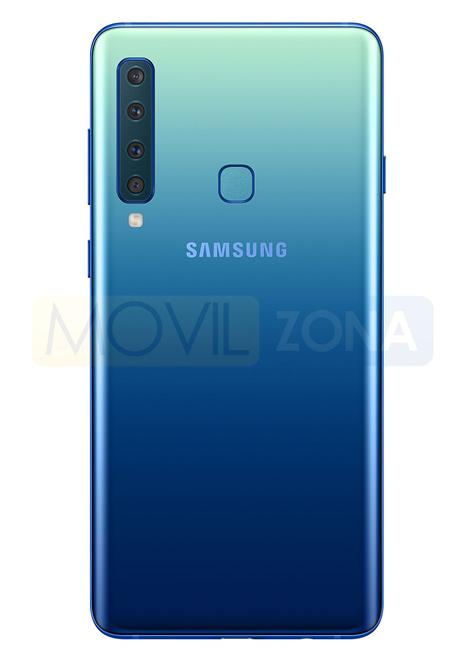 Samsung Galaxy A9 cuatro cámaras color azul