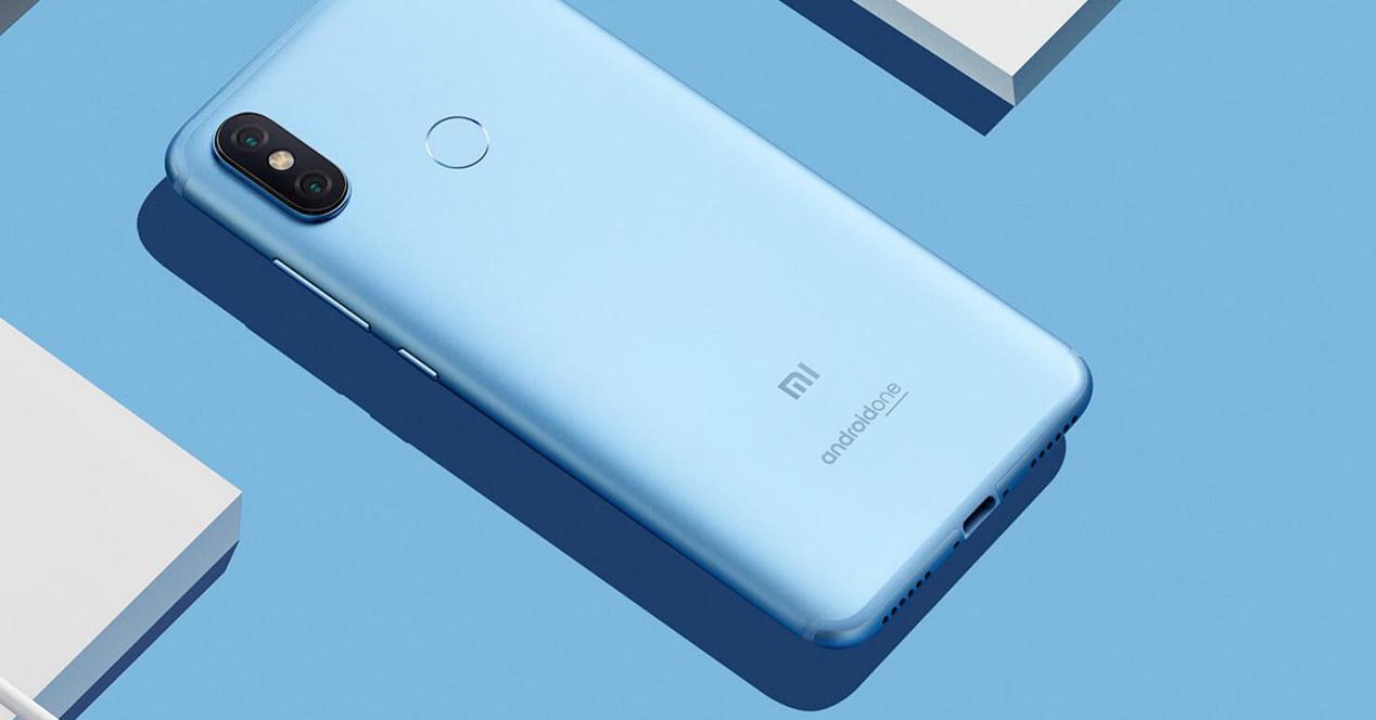 Carcasa trasera y sensor de huellas del Xiaomi Mi A2