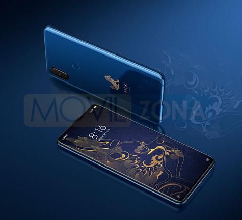Xiaomi Mi Mix 3 azul con logo