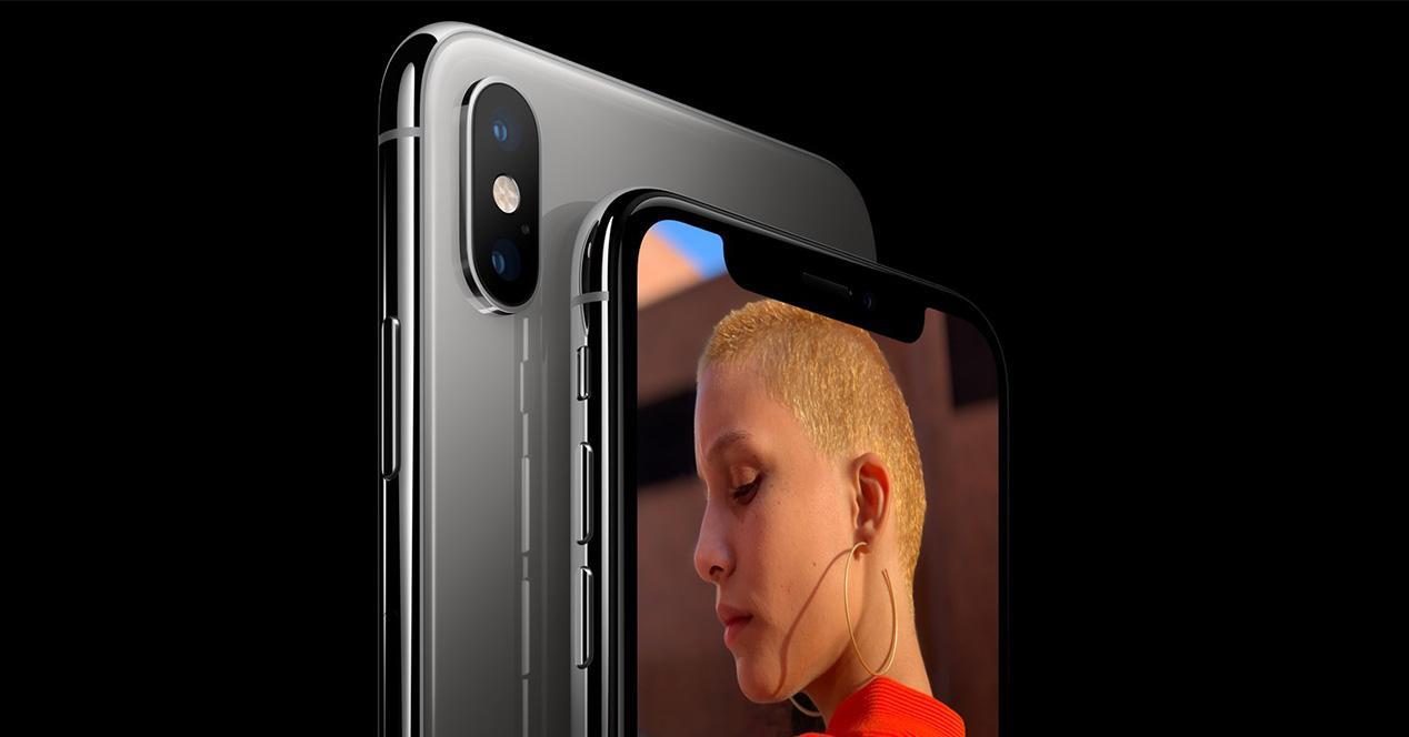 cámara frontal del iPhone XS