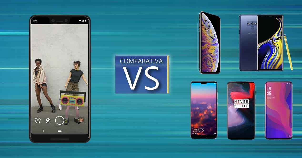 Comparativa Pixel 3 XL