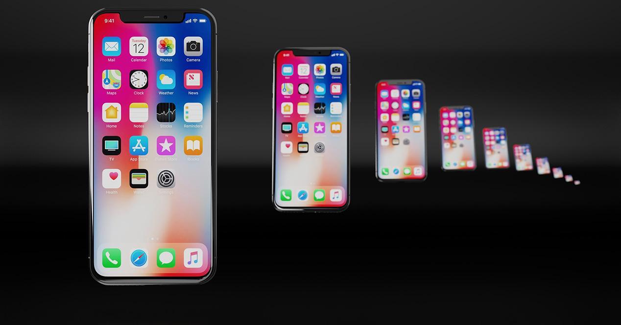 iPhone X sobre fondo oscuro