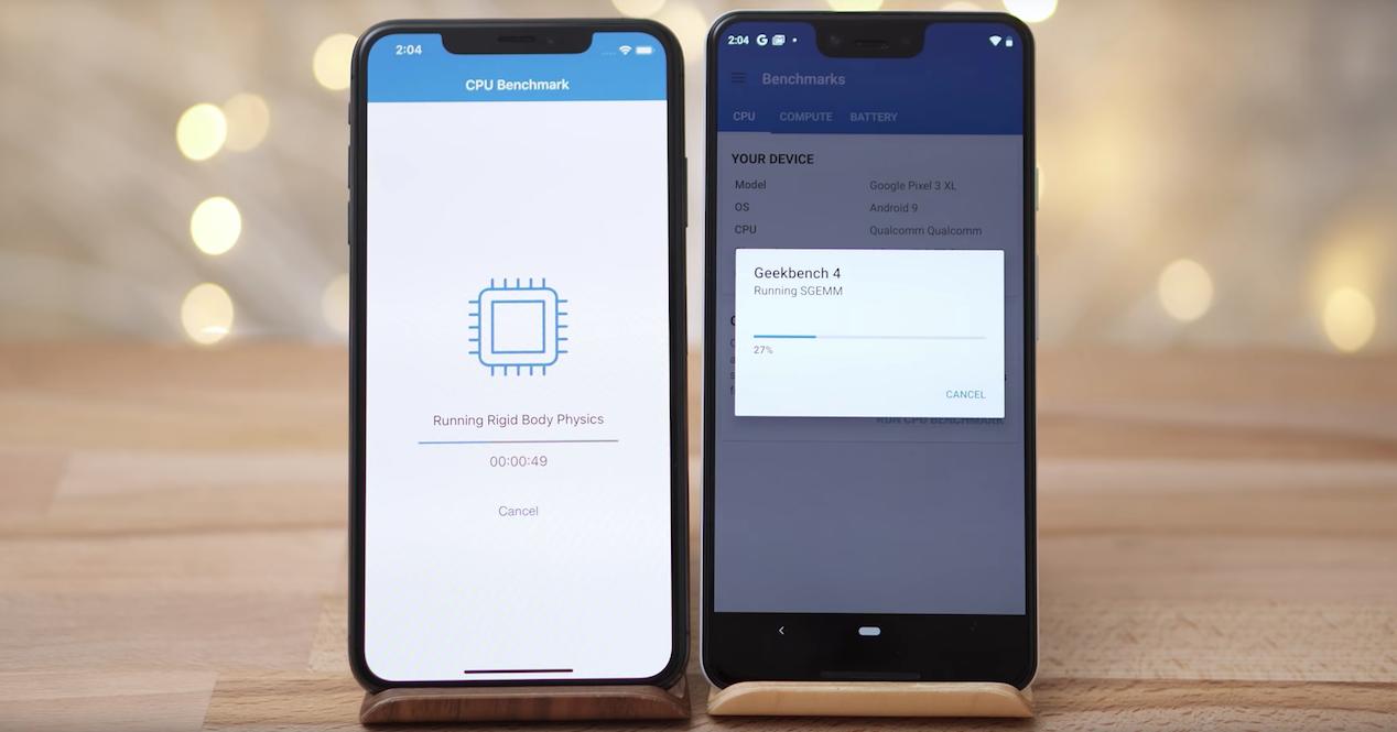 iphone xs max google pixel 3xl