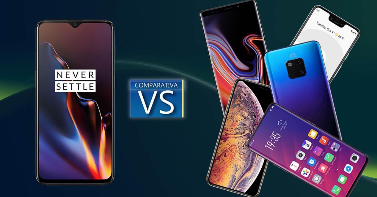 OnePlus 6t comparativa mercado