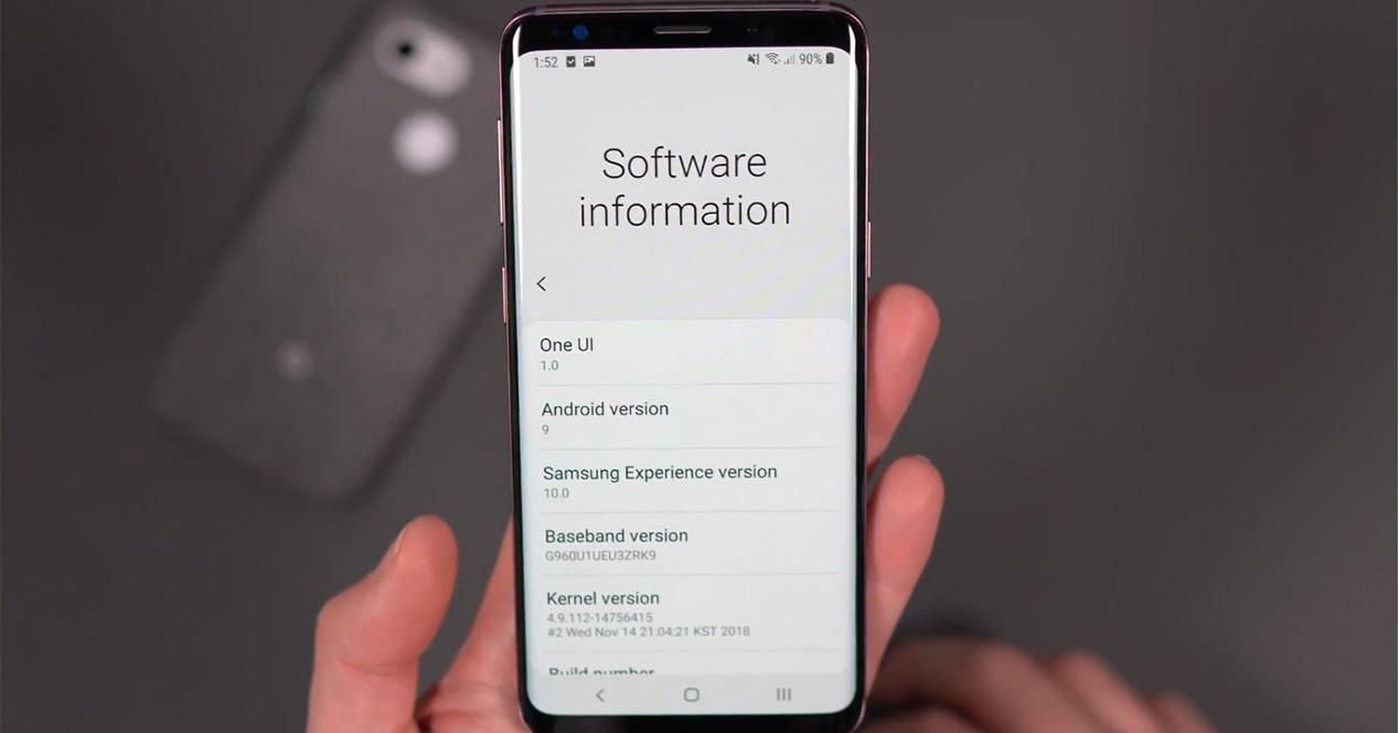 Beta de Android 9 Pie para el Galaxy S9